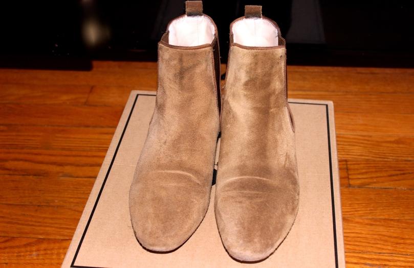 Zara Suede Chelsea Boots