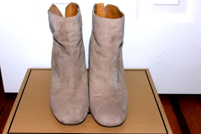 Nine West Taupe Booties