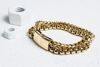 Vitaly Etid X Gold Bracelet